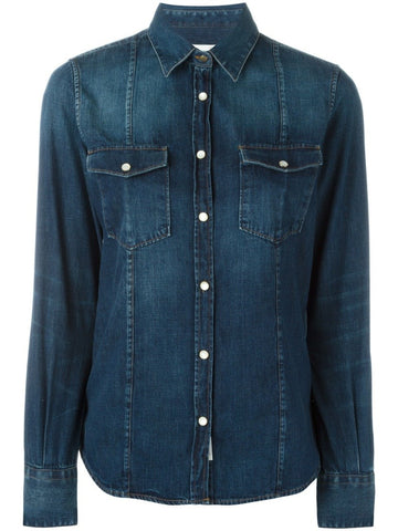 Blue cotton Debbie denim shirt