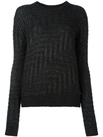 Black alpaca blend Delaway sweater