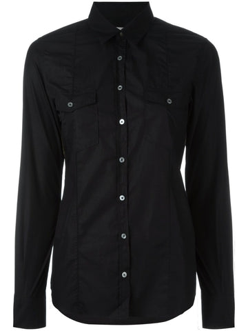 Black cotton Debbie shirt