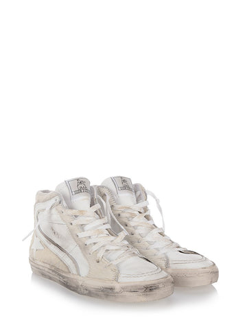 Off-white  leather 'Slide' hi-top sneakers