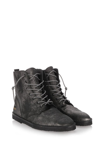 Grey leather Gramercy boots