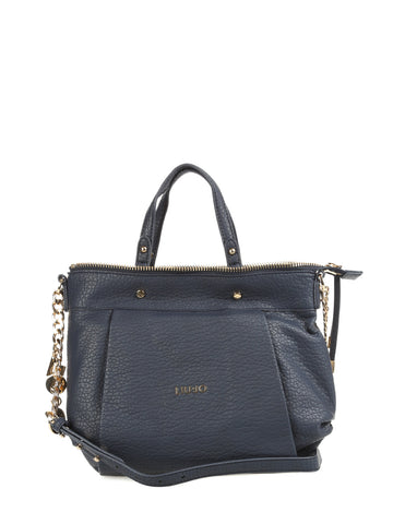 LIU JO Blue eco-leather shoulder bag