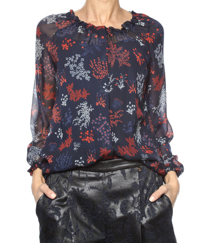 LIU JO Black Label Blue printed shirt