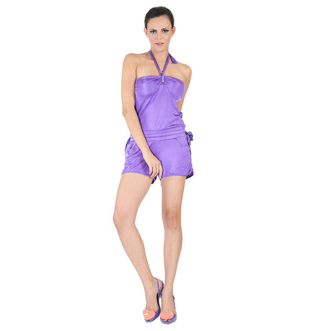 Purple halter neck jumper
