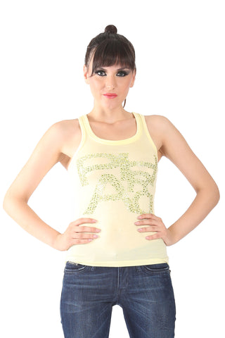 Phard Yellow Tank Top With Metallic Phard Logo