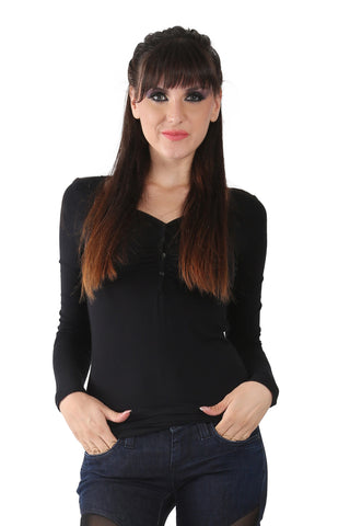 Phard Black Top With Full Sleeves