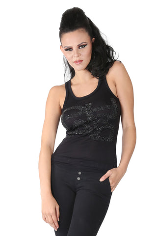 Phard Black Tank Top With Metallic Phard Logo
