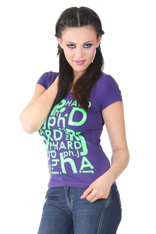 Phard Violet T-Shirt With Phard Logo Print