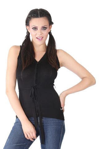 Phard Black Sleeveless Top