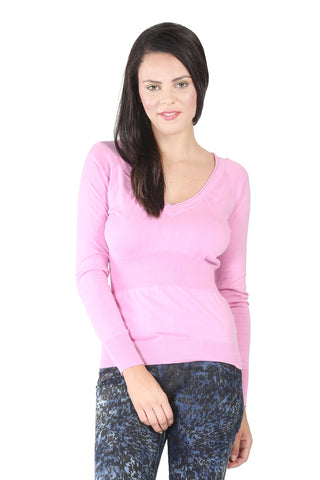 Phard Pink Top With Full Sleeves