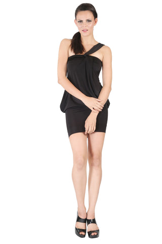 Phard Black Dress With Metallic Phard Logo