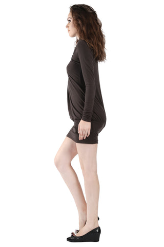 Phard Dark Chocolate Top Neck Dress