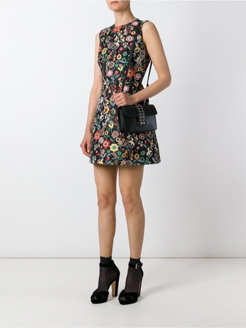 RED VALENTINO Multicolour floral embroidered shift dress