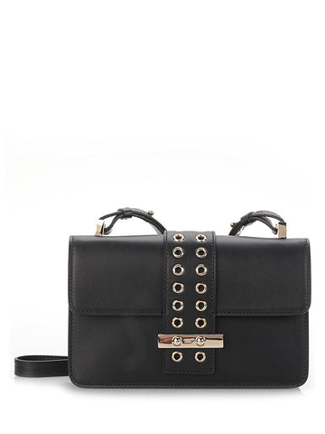 "black leather ""Crossbody"" bag"