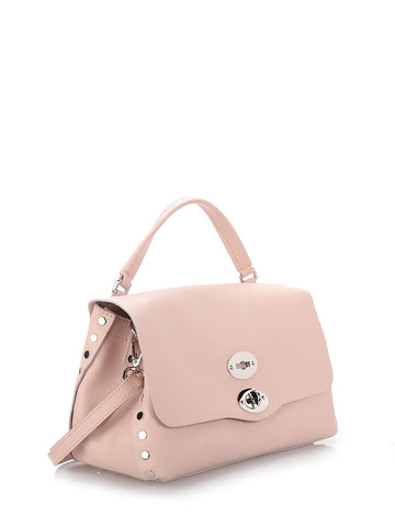 Pink leather small Postina satchel