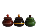 Bharani-Storage & decorative jars made with sustainably harvested wood and vegetable dyes