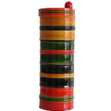 Salt Box/ Tea or Spice Jar, 4-Tier Multi-purpose swivel Jar 'Chitra',