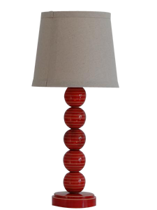 Table Lamp made with sustainably harvested wood, Vegetable dyes, Eco-friendly.