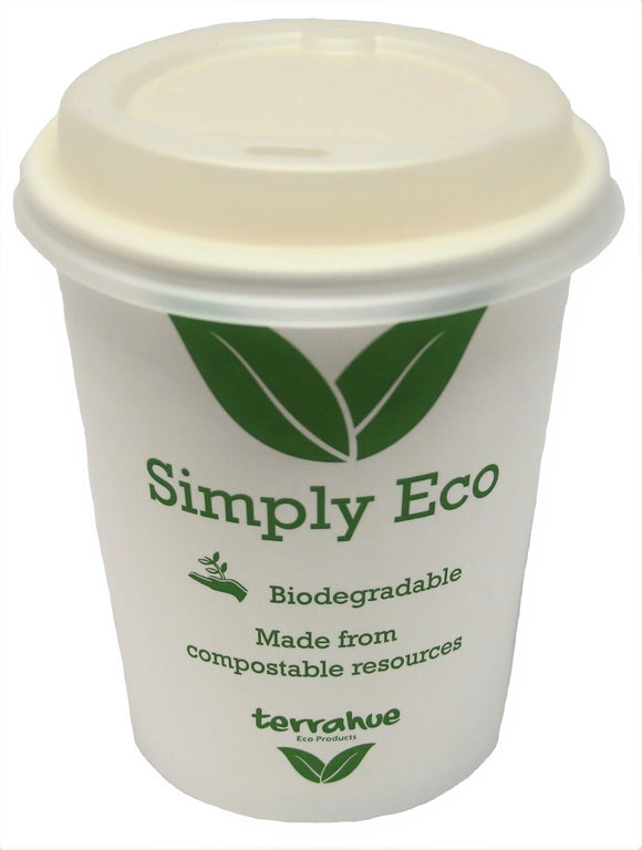 8 Oz Coffee Cup, Biodegradable,Compostable, Paper with PLA lining