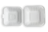 Terrahue Take Out Container 6x6x3 inch,Biodegradable & Compostable,Sugarcane bagasse