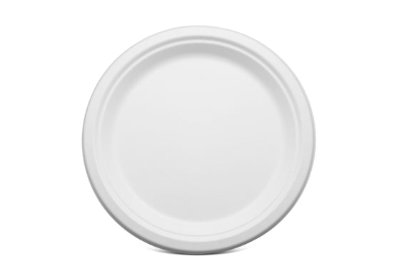 Terrahue 9 inch Round Plate, Biodegradable, Compostable, Sugarcane Bagasse