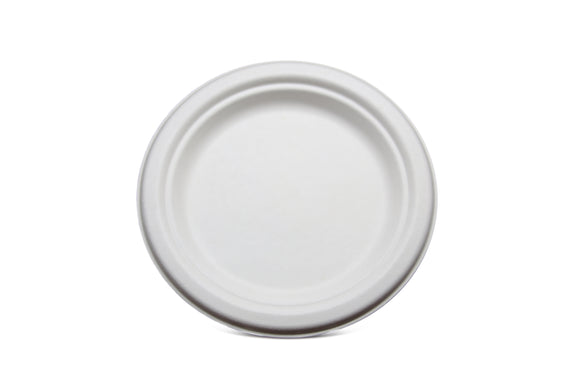 Terrahue 7 inch Cake/Snack Plate, Biodegradable, Compostable, Sugarcane fiber, Eco-friendly