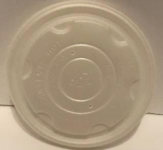 Terrahue Compostable PLA Lid for 8 Oz Hot Soup/Food Bowl