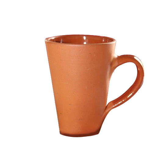 Terracotta Clay Coffee Mugs - Set of 4