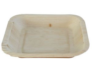 Terrahue Palm Leaf Plates,6.5 inch square, 100% Natural, Biodegradable, Compostable.