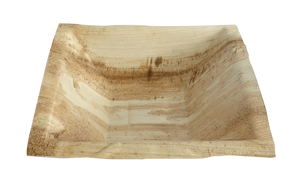"Natural Palm Leaf Soup/Dessert bowl - 7""w x 7""d x 2""h, Biodegradable and compostable"