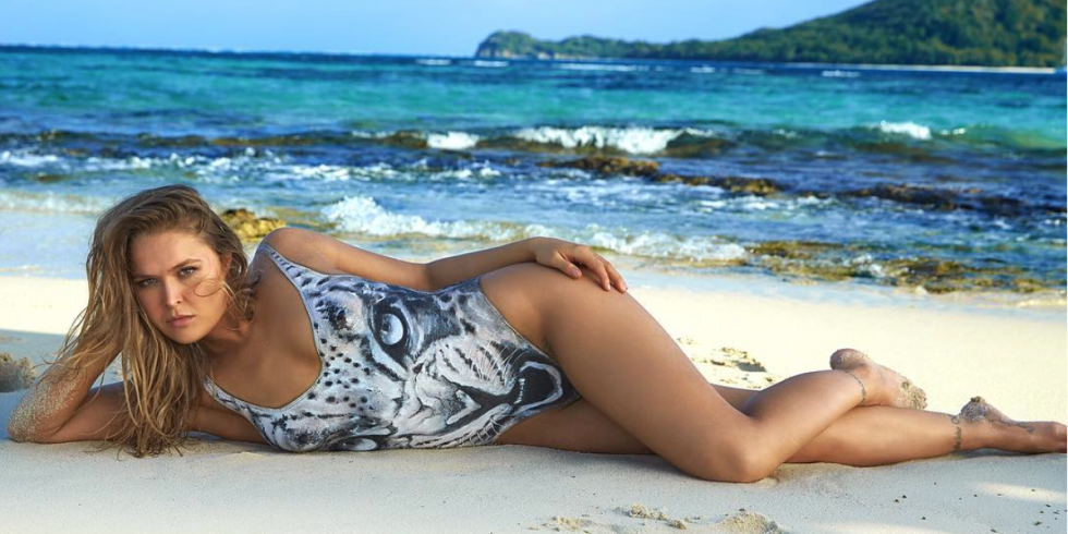 RONDA ROUSEY ON WEARING NOTHING BUT PAINT ON HER SPORTS ILLUSTRATED SWIMSUIT COVER