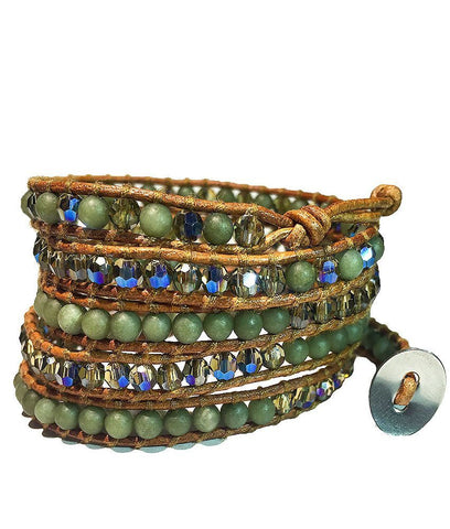 Wrap Bracelet - Amazon Green Wrap Bracelet
