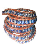 Wrap Bracelet - Enchanting Blue Crystal Wrap Bracelet