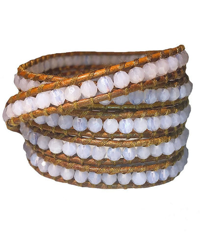 Wrap Bracelet - Ghostly White Wrap Bracelet