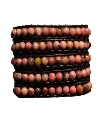 Wrap Bracelet - The Big Pink Stones Wrap Bracelet