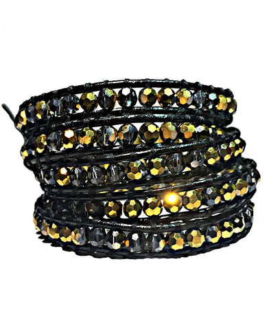 Wrap Bracelet - UCF Black And Gold Wrap Bracelet