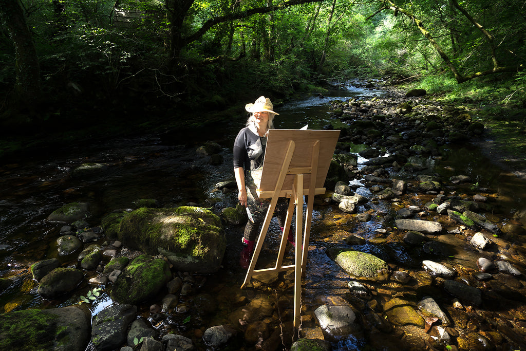 Plein Air Painting River Afon Twrch