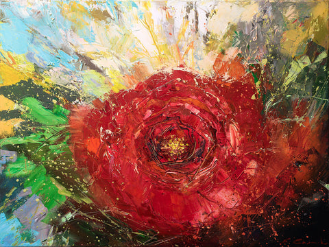 The New Beginning'Camellia' (2016) Oil On Canvas - Eva Czarniecka Art