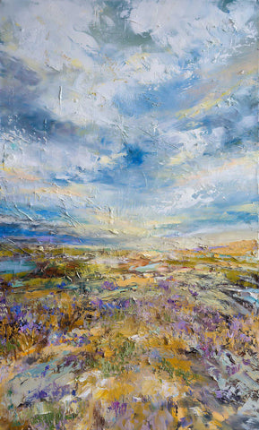 'Lavender Summer' Original Oil on Canvas Ready to Hang