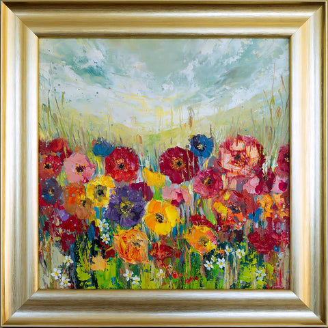 'Flowers in Valley' (2017) Oil on Canvas, Ready to Hang - Eva Czarniecka Art