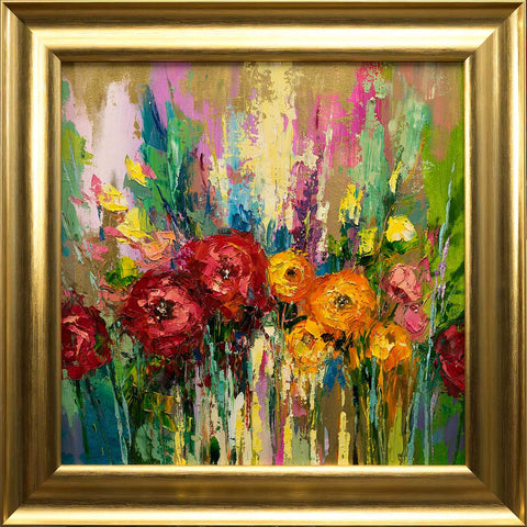 'Spring Garden' Original Oil on Canvas, Ready to Hang Ideal Gift or Home Decor - Eva Czarniecka Art