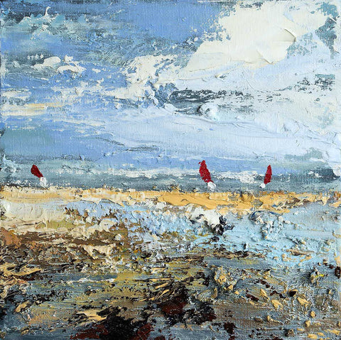 'Sailing' Modern Oil Painting, Canvas Ready to Hang, Ideal Gift or Home Decor - Eva Czarniecka Art