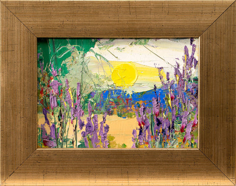 'Lavender Sun' to hang Oil on Canvas Board