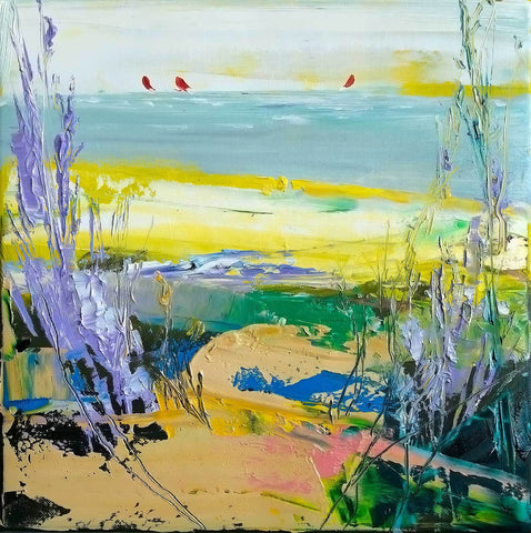 'Wild Beach' Oil Painting on Canvas, Ready to Hang - Eva Czarniecka Art