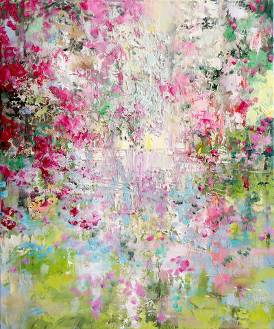 'Arrival Of Spring' Heavy Textured Oil Painting on Canvas, Ready to Hang - Eva Czarniecka Art