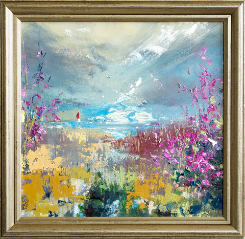 'Ray of Hope' Oil Painting On Canvas Framed Ready to Hang - Eva Czarniecka Art