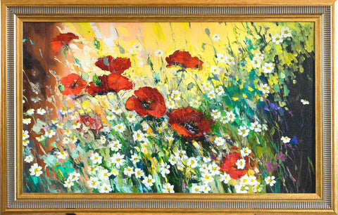 'Poppies' Giclee Print Framed Ready To Hang - Eva Czarniecka Art