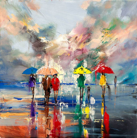 'Sunshine after Storm' Oil Painting on Canvas, Ready to Hang - Eva Czarniecka Art