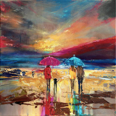 'Everywhere' Oil Painting - Eva Czarniecka Art