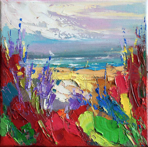 'ENDLESS SUMMER' Oil Painting on Canvas Ready to Hang - Eva Czarniecka Art